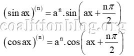 Đạo hàm của hàm lượng giác