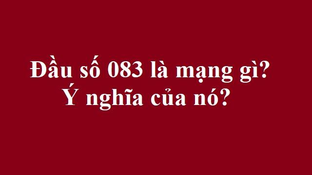 Đầu số 083 là mạng gì?